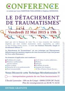 Affiche conférence 22 mai 2015 sur le détachement de traumatismes