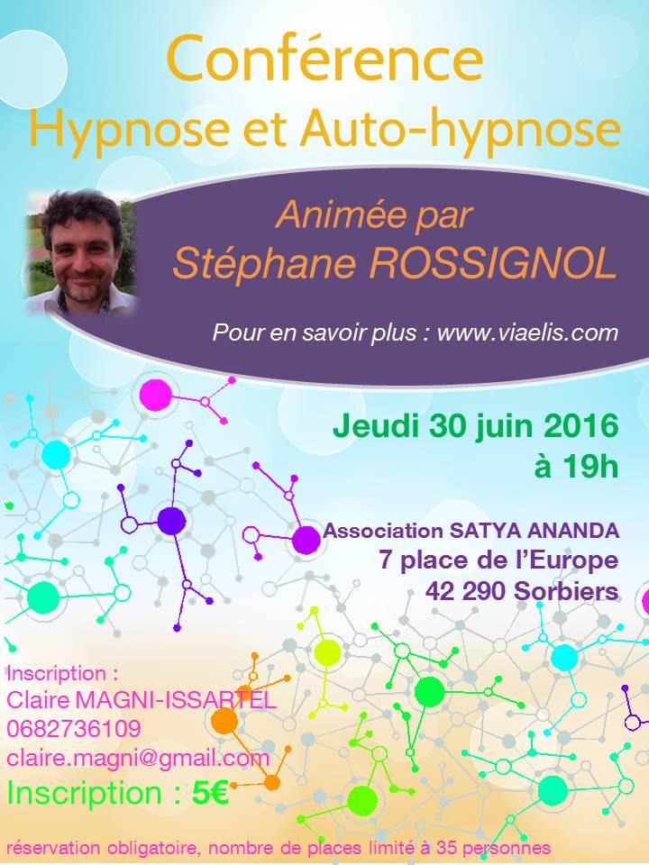 Affiche pour Conférence Auto-Hypnose Sorbiers 2016-06-30