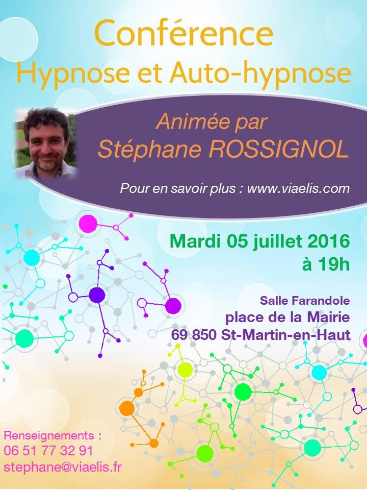 Conférence Hypnose et Auto-Hypnose Saint Martin en Haut - 05 juillet