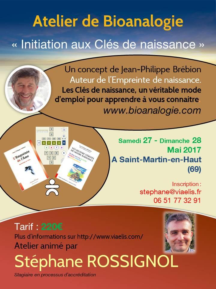 Atelier Initiation aux Clés de Naissance 27-28 mai 2017