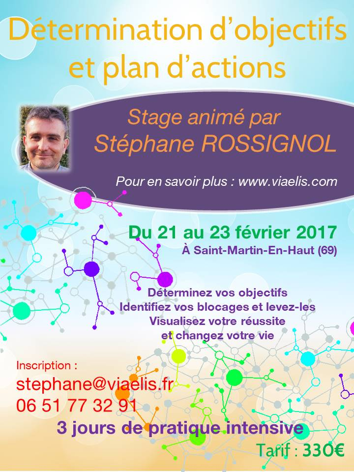 Stage Détermination d'objectifs et plan d'actions Visualisation 21-23 février
