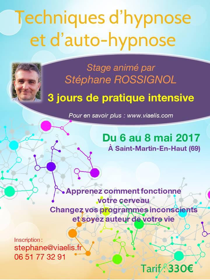 Stage Techniques d'hypnose et d'auto-hypnose 6-8 mai 2017
