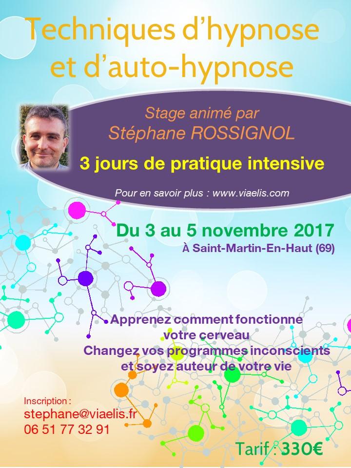 Stage Techniques d'hypnose et d'auto-hypnose 3-5 novembre 2017
