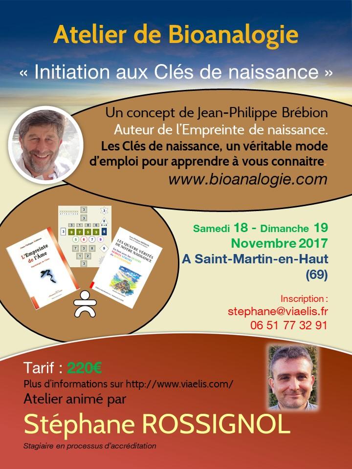 Atelier Initiation aux Clés de Naissance St Martin 18-19 novembre 2017